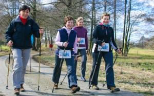 Nordic Walking, FSG Medizin Hoyerswerda, Foto: Schneeglöckchenlauf Ortrand
