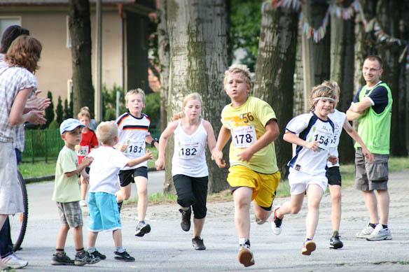 Kindersport in Hoyerswerda, Laufen