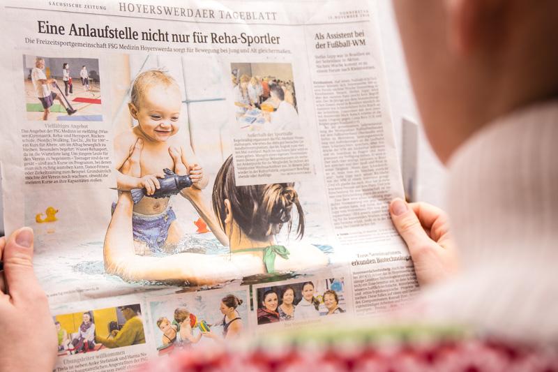 Eine ganze Seite FSG Medizin - am 13.11.2014 in der SZ, Hoyerswerdaer Tageblatt